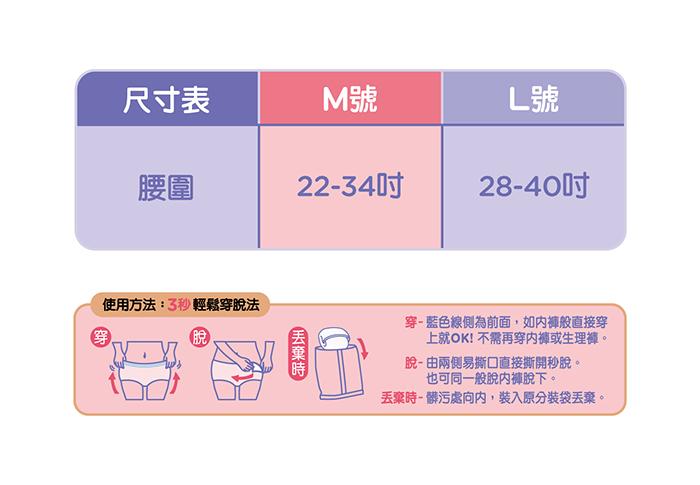 【靠得住】晚安好眠褲M號 4片x4包/箱