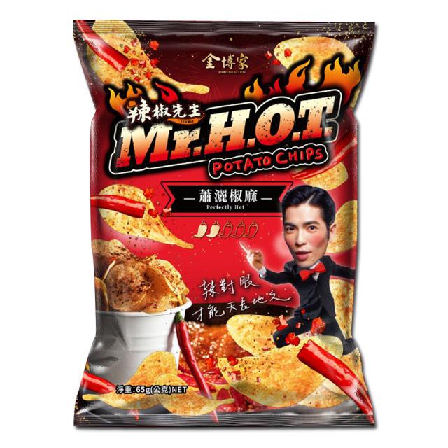 2020國際吃貨日-PChome零食泡麵熱門排行 金博家辣椒先生洋芋片-蕭灑椒麻口味
