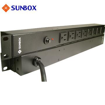 PDU 8孔20安培機架電源排插,1u/ 0u可安裝,插頭防脫掛勾,SUNBOX 出品