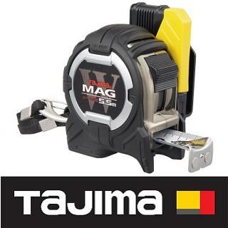 日本 田島Tajima W磁鐵捲尺 5.5x25mm/公分 CWM3S2555