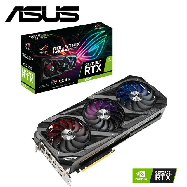 華碩 ROG-STRIX-RTX3080TI-O12G-GAMING 顯示卡+STRIX-X570-F-GAMING+SSD 外接盒